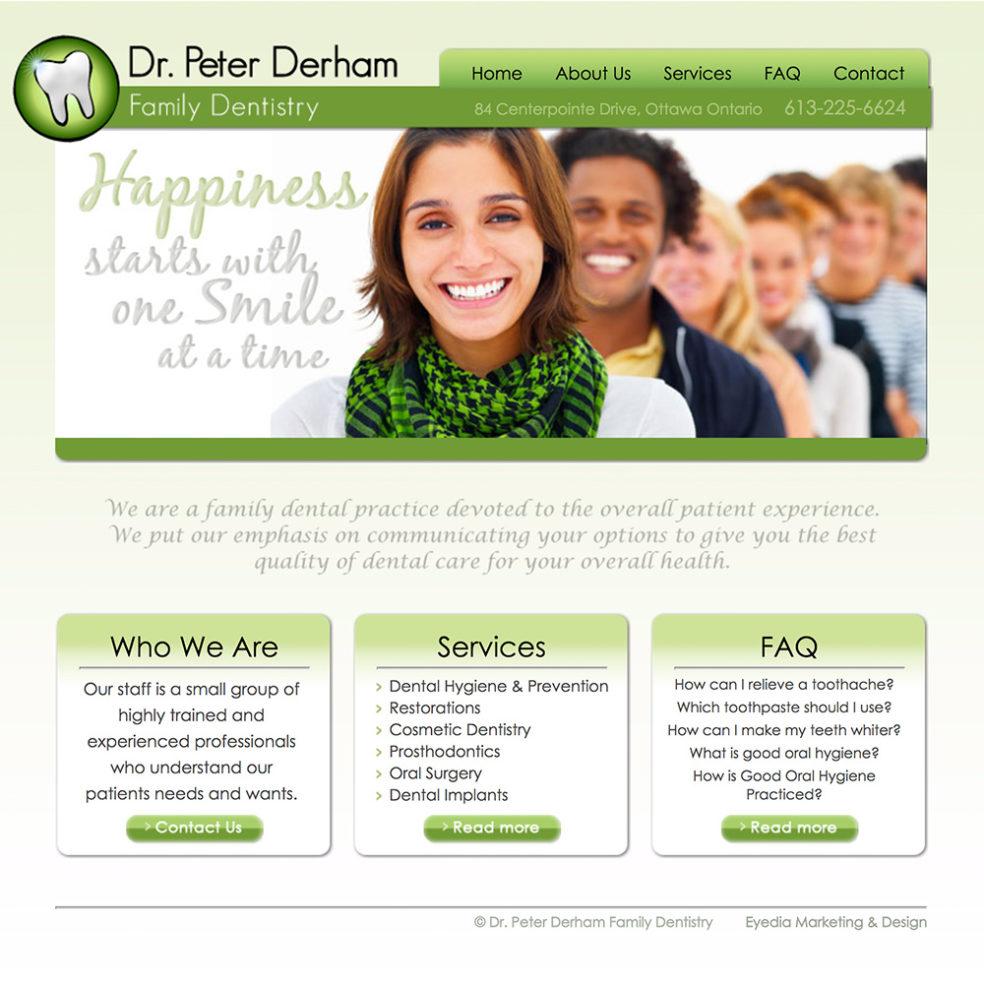 Dr. Derham Dental website