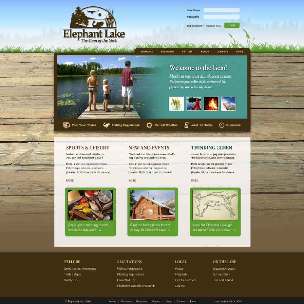Elephant Lake Website