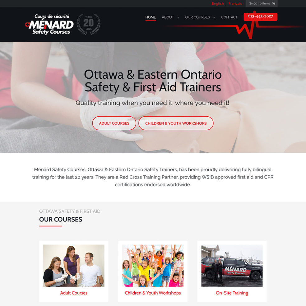 Menard Safety Courses website