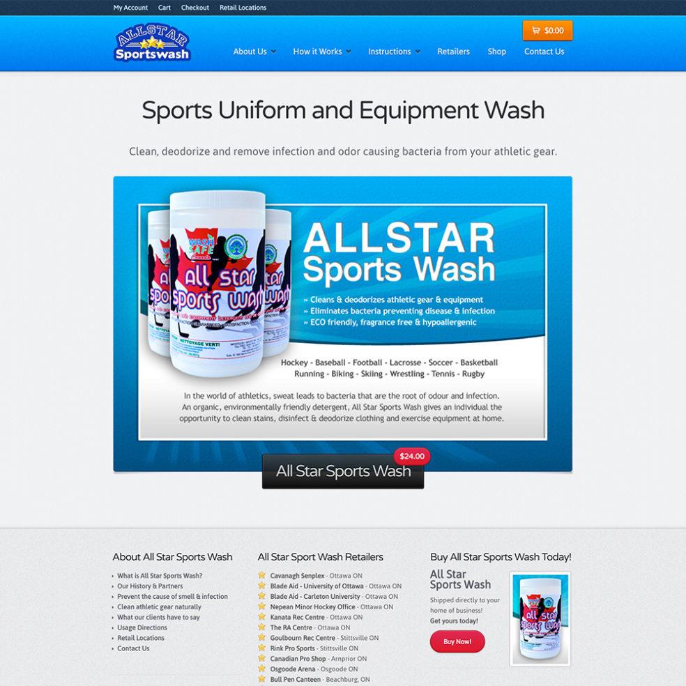 Allstar Sportswash website