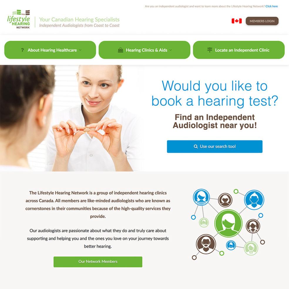 Lifestyle Hearing Network website